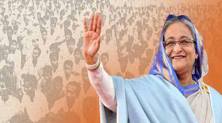 বিশ্বের ২৬তম প্রভাবশালী নারী প্রধানমন্ত্রী শেখ হাসিনা,রাজনীতিতে ৬ষ্ঠ