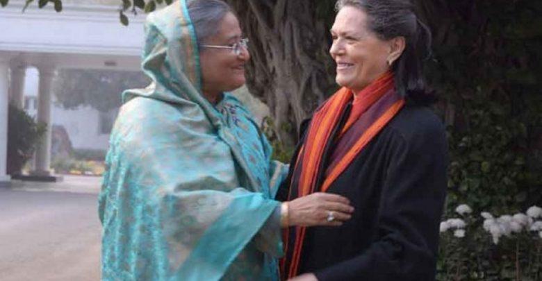 Photo of শেখ হাসিনাকে সোনিয়া গান্ধীর শুভেচ্ছা