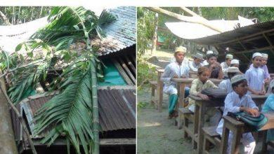 Photo of বুলবুলের তান্ডবে এবতেদায়ী মাদ্রাসাটি সম্পূর্ণ বিধ্বস্ত