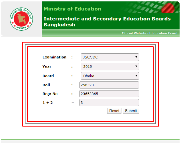 JSC exam results 2019