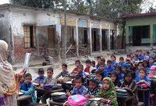 Photo of বারৈচা বালিকা উচ্চ বিদ্যালয়ে পাঠদান চলছে খোলা মাঠে