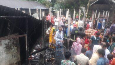 Photo of টঙ্গীর মরকুনে বসত বাড়িতে আগুন