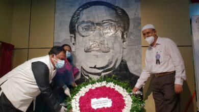 Photo of বঙ্গবন্ধুর সংগ্রাম ও বাংলাদেশের স্বাধীনতা শীর্ষক দেওয়াল চিত্রের উদ্বোধন