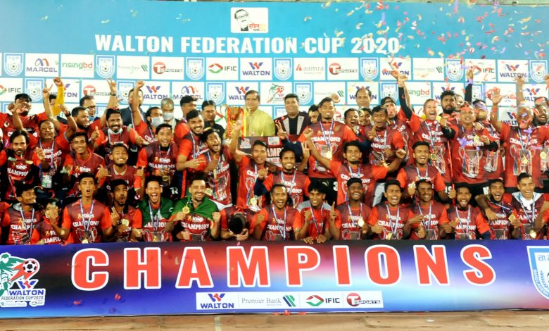 WALTON Federation Cup 2020 21 Final Bashundhara King vs Saif Sporting Club Photos 2