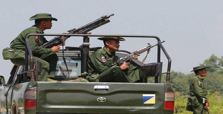 myanmar army in border area afp