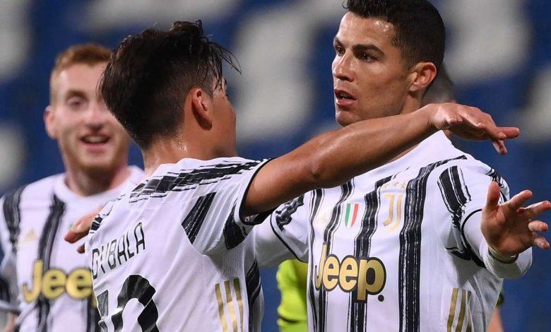 juventus celebrate cristiano ronaldo goal vs sassuolo 2020 21 porjxxdzc41d152foz5flyjtg