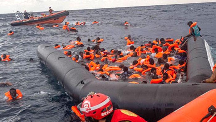 74 dead as boat sinks near Libya